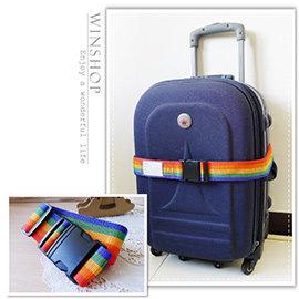 【winshop】B2047 行李固定帶-無密碼/可調式行李帶/旅行箱束帶/登機箱束箱帶/行李帶/打包帶