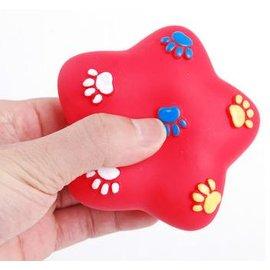 ~響聲玩具~小星星~塑膠~0909~3個 組~寵物發聲玩具 塑膠狗狗貓咪玩具 顏色 發,長