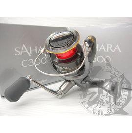 ◎百有釣具◎SHIMANO  SAHARA 紡車式捲線器 ~規格:2500 / C3000 / C3000HG 充滿信賴感及完整規格~送日本原裝母線