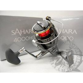 ◎百有釣具◎SHIMANO  SAHARA 紡車式捲線器 ~規格:4000HG / C5000充滿信賴感及完整規格~送日本原裝母線