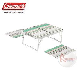 探險家戶外用品㊣CM-7000美國Coleman 日本合式野餐桌 綠 (附坐墊2入) 53*40 露營帳篷小桌摺疊桌
