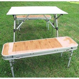 ADISI 新款 得獎 彩楓家庭系列 4人鋁合金組合桌椅套裝組(摺疊桌*1 + 長凳*2) 附收納袋 鋁捲置物桌.戶外露營 非LOGOS 980H AS14074