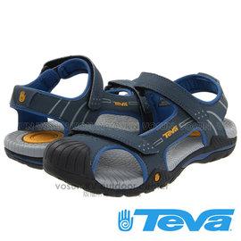【美國 TEVA】兒童 CHILDREN'S TOACHI 2 水陸護趾涼鞋/休閒運動款.戶外拖鞋.海灘鞋.適沙灘.溯溪.非Chaco/ TV1003702 NAVY 藍/灰