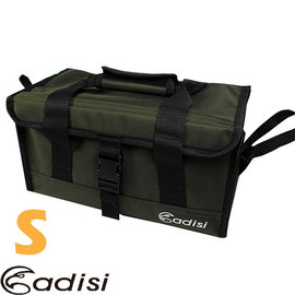 【ADISI】18×32×18cm可摺疊萬用手提工具箱(S).收納箱.裝備袋.工具盒/可摺疊收納.不佔空間/AS14057 咖啡