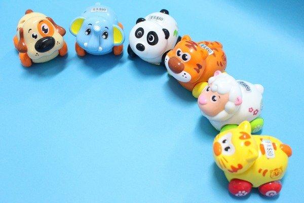 摩轮小动物 回力摇头可爱动物 q版动物玩具(真环保.