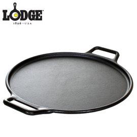 丹大戶外用品~LODGE~Cast Iron Pizza Pan 14吋披薩鑄鐵烤盤 附食