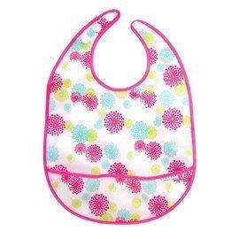【紫貝殼】『DB37-2』JJ Cole Collections 大圍兜 JJ-3006【Pink Blush 粉色小花】【材質為聚酯纖維(防水材質)】