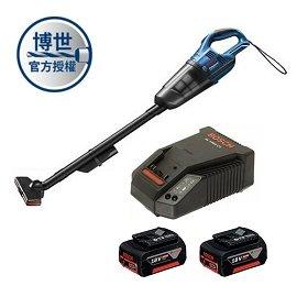 BOSCH 18V吸塵器GAS 18V-Li (充電器+4.0電池二顆)套裝組★附有LED燈 方便夜間作業照明