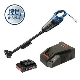 BOSCH 18V吸塵器GAS 18V-Li (充電器+2.0電池一顆)套裝組★附有LED燈 方便夜間作業照明