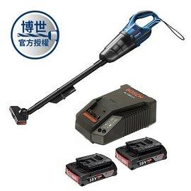 BOSCH 18V吸塵器GAS 18V-Li (充電器+2.0電池二顆)套裝組★附有LED燈 方便夜間作業照明