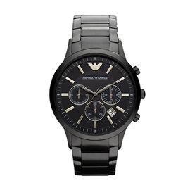 ~EMPORIO ARMANI~白色簡約日曆男用手錶 AR0495