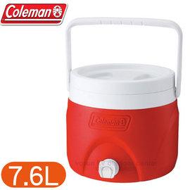 【美國 Coleman】7.6L可堆疊置物型飲料冰桶.可堆疊飲料冰桶.保冷桶保冰桶飲料筒.保冷壺.紅茶桶/CM-1362 紅