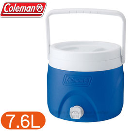 【美國 Coleman】7.6L可堆疊置物型飲料冰桶.可堆疊飲料冰桶.保冷桶保冰桶飲料筒.保冷壺.紅茶桶/CM-1363 藍