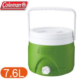 【美國 Coleman】7.6L可堆疊置物型飲料冰桶.可堆疊飲料冰桶.保冷桶保冰桶飲料筒.保冷壺.紅茶桶/CM-1364 綠