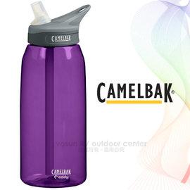【美國 CAMELBAK】Eddy 多水吸管水瓶 1000ml.運動水壺1L.水瓶.茶壺.休閒壼.隨身瓶/專利咬嘴.耐撞擊.附提把/CB53535 貴族紫