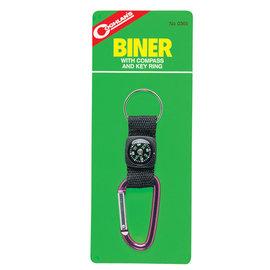 【Coghlans -加拿大】指北針鉤環鑰匙圈 BINER WITH COMPASS AND KEY RING.扣具帶.指南針/適登山,健行,探險,露營,搜救 / 0365