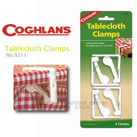 【Coghlans -加拿大】塑膠 桌布夾 Tablecloth Clamps Large 4 Pack(四入裝) /桌布夾.桌布固定夾/適登山.露營 / 9211