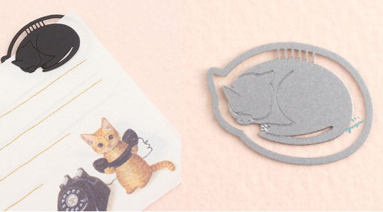 (超值8款入)创意 超萌黑白猫咪金属镂空书签金属书签夹 ◇/书夹/金属