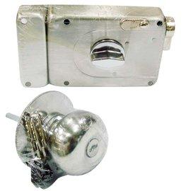 COE白鐵喇叭式無拉把四段鎖-C203SS小轉鈕★鎖閂特殊 防暴裝置★斜舌拉出就可轉向