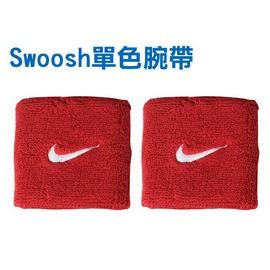 NIKE Swoosh 單色腕帶(免運 慢跑 路跑 籃球 網球 羽球 一雙入【98340940】≡排汗專家≡