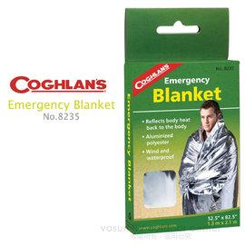 【Coghlans -加拿大】緊急防災救生毯 EMERGENCY BLANKET/保暖毯.太空毯,耐用型求生毯,防風睡袋.防寒.登山露營急用墊,預防失溫/ 8235