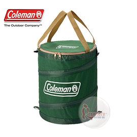 探險家戶外用品㊣CM-6907美國Coleman (綠) 萬用魔術桶 彈力筒置物桶垃圾桶RV筒摺疊收納