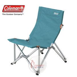 探險家戶外用品㊣CM-6994美國Coleman 樂活椅 (水藍) 鋁合金 休閒椅 新大川椅 折疊椅 導演椅
