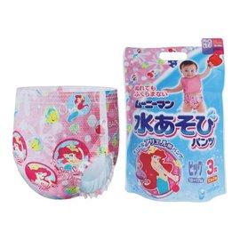 【紫貝殼】『JO18538』日本 寶寶游泳尿褲/尿片泳褲3入-女M【店面經營/可預約看貨】