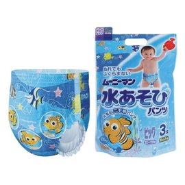 【紫貝殼】『JO18562』日本 寶寶游泳尿褲/尿片泳褲3入-男 XL【店面經營/可預約看貨】