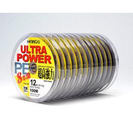◎百有釣具◎HARIMITSU ULTRA POWER 100M  6鼓/8鼓高強力 PE線 !!規格:1.5/2/3/4/5/6/8/10/12