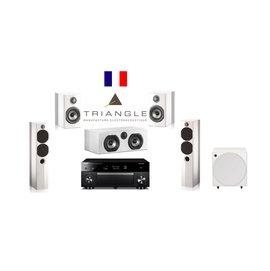 超音音響 法國 Triangle Color 5.1 白色 來店視聽鑑賞與詢價^!