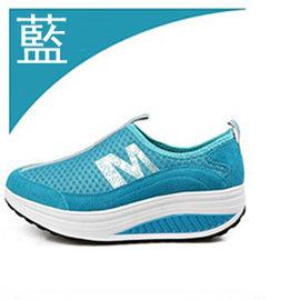 【ALicE】(預購)Y458-5 馬卡龍M字母網面健走鞋-藍
