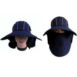 ~海倫精坊~ 製Chuang Da 羽毛浮繡深藍色多 遮陽帽釣魚登山騎車^( 390元^)