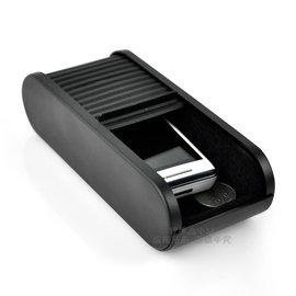 YP逸品小舖 車用 抽拉式置物盒 伸縮式 捲門式 內部絨毛包覆 零錢盒 收納盒 票據 眼鏡