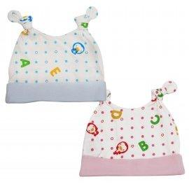 ^~^~小饅頭^~^~PUKU藍色企鵝 春夏印花嬰兒帽^(ABC^)^(P26956^)