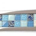 5Cgo 【代購七天交貨】 36768517181 玻璃馬賽克客廳電視背景牆腰線地腳線瓷磚裝修材料 衛生間 家居 裝修 墻磚 多色