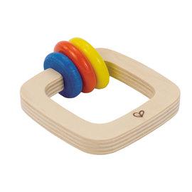【紫貝殼】『CGC37-1』【德國Hape愛傑卡】木製嬰兒手搖鈴-方【1入】