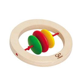 【紫貝殼】『CGC37-2』【德國Hape愛傑卡】木製嬰兒手搖鈴-圓【1入】