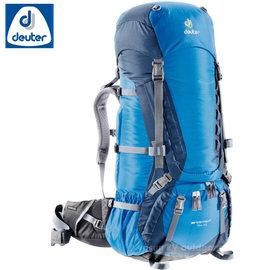【德國 Deuter】Aircontact 拔熱透氣背包 75+10L 登山背包.露營背包雙肩背包.旅行包/ 33472 (43033) 深藍/藍