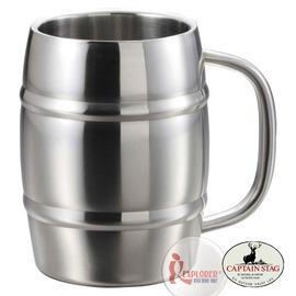 探險家戶外用品㊣UH-2001 CAPTAIN STAG 日本鹿牌巨型啤酒杯1.0L 不鏽鋼保冷杯雙層保溫杯