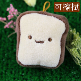 Nicopy~麵包系列 手機螢幕擦吊飾~單片吐司