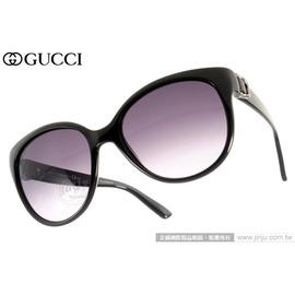 GUCCI 太陽眼鏡 GG3679S D28EU (黑色) 歐美時尚貓眼女款墨鏡 # 金橘眼鏡