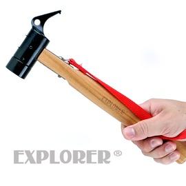探險家戶外用品㊣GU0711 核桃木柄鐵槌 鐵鎚 營釘鎚 營釘槌 營鎚 營槌 高碳鋼 (非SNOW PEAK)