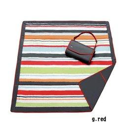 『HA01』美國 JJ Cole Essentials Blanket 外出攜帶防水野餐墊 / 戶外遊戲墊 / 防水墊(紅條紋)【裡層防水,防汙漬/展開:150cm*150cm 】