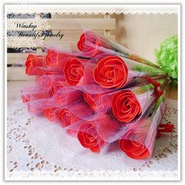 【winshop】B2111 香皂玫瑰花/皂片/香皂花/求婚告白/情人節禮物/婚禮小物/婚紗攝影/居家擺飾