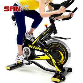 【SAN SPORTS 】M4雙頭龍20KG飛輪健身車MC165-707 (5倍強度.20公斤飛輪車.室內腳踏車競速公路車美腿機推薦哪裡買)