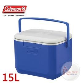 探險家戶外用品㊣CM-2640 美國Coleman 15L EXCURSION 海洋藍冰桶 (藍) 行動冰箱 保冷箱 冰筒