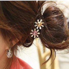 UNICO 韓國 甜美水晶花髮圈 髮繩 髮飾~UA11100180~A0141~