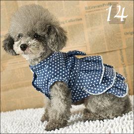 保羅叔叔寵物 館 ~嘟貝貝~~ 圓點蛋糕裙 ~ 狗狗衣服 ~ 14號 L