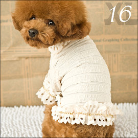 保羅叔叔寵物 館 ~嘟貝貝~~ 浪漫洋裝附花邊項圈 ~ 狗狗衣服 ~ 16號 XL